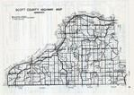 Scott County Highway Map, Scott County 1940c